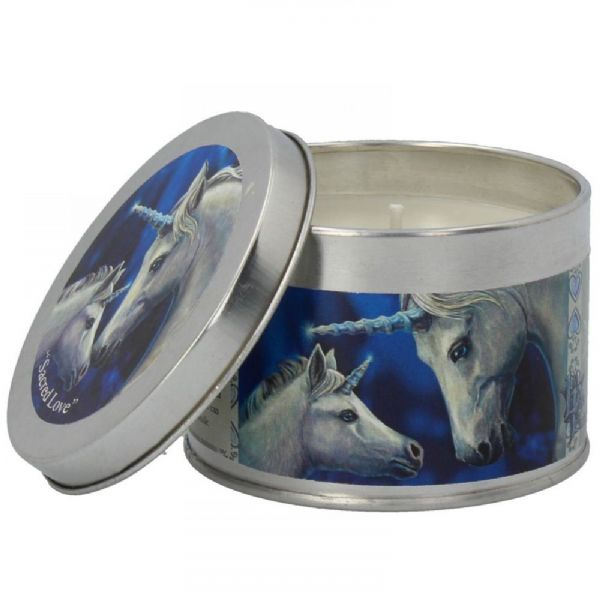 LISA PARKER Sacred Love Unicorn Tin Candle by Nemesis Now